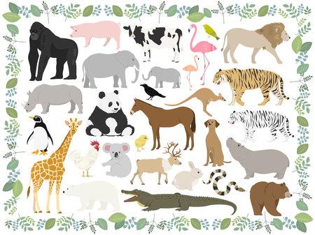 Ilustración de Animal illustration set - Imagen libre de derechos