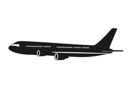 Illustration for Airplane icon illustration - Royalty Free Image