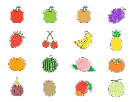 Illustration pour Fruit Illustration Set - image libre de droit