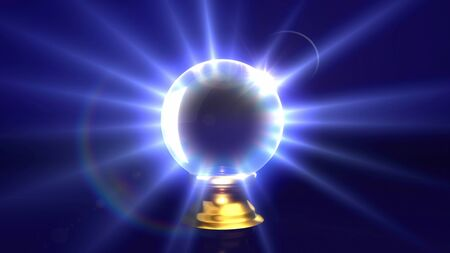 crystal ball lens flare background. Representing the mystery & fortune idea.