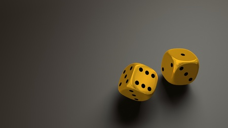gold dice wide