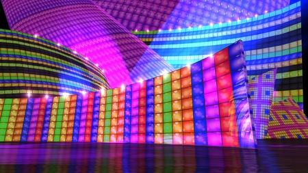 Photo pour The disco stage background for virtual set - image libre de droit