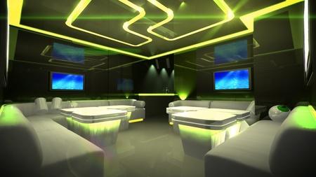 Photo pour the Nightclub interior design with the cyber style theme  - image libre de droit