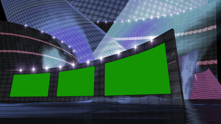 entertainment news virtual set  with green screen