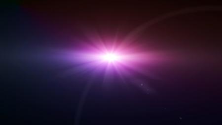 Photo pour space star flare magenta color lens flare special effect - image libre de droit