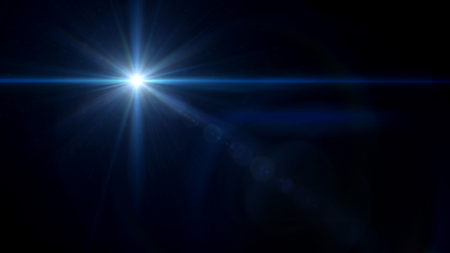 abstract image of lens flare representing the camera flash with special effect