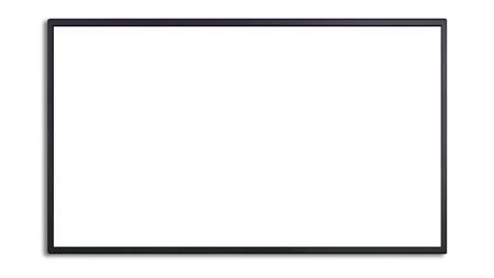 Foto de blank of led cinema display isolated on white background - Imagen libre de derechos