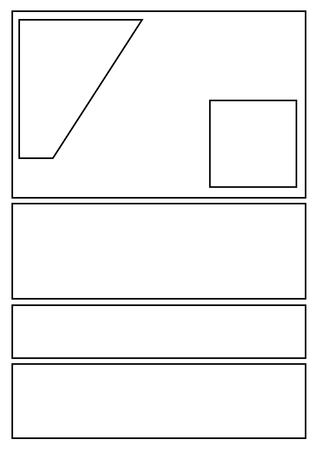 Manga Storyboard Layout Template For Rapidly C