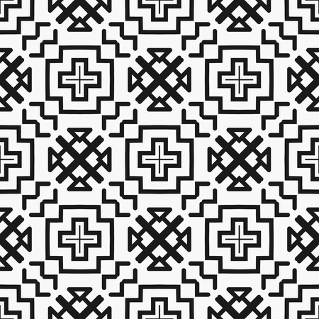 Illustration pour Art deco black and white texture. Seamless geometric pattern - image libre de droit