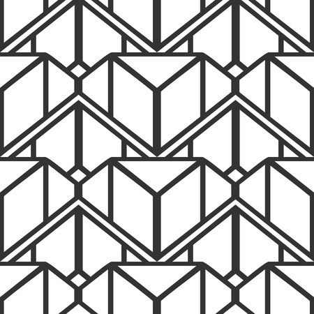 Illustration pour Vintage ornamental art deco retro seamless background and texture. Vector illustration can be used for wrapping paper, wallpapers, tiling, flooring, fabric, textile and other designs. - image libre de droit