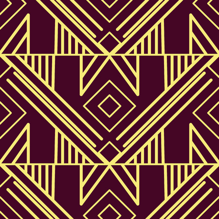 Illustration for Vector modern tiles pattern. Abstract art deco seamless luxury background - Royalty Free Image