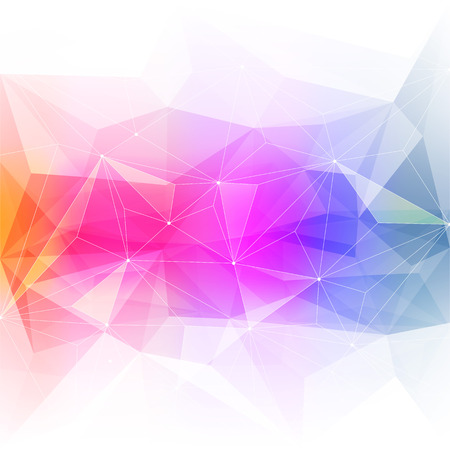 Illustration pour Colorful abstract crystal background. Ice or jewel structure. Pink, Yellow and green bright colors. - image libre de droit