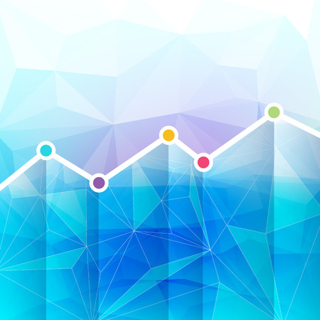 Abstract graph chart timeline background. Mosaic faceted texture.