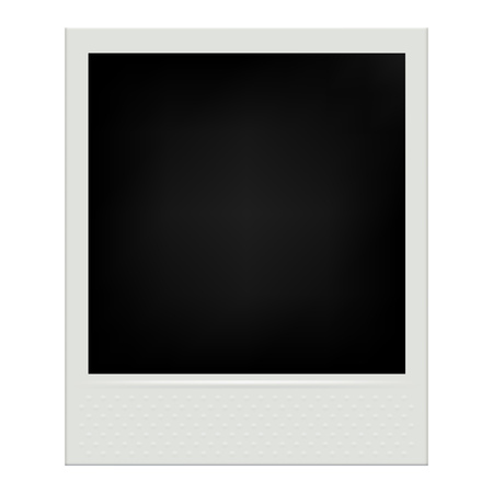 Instant film realistic polaroid frame isolated vector illustration.
