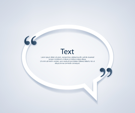 Illustration for Quote paper bubble frame template vector illustration. - Royalty Free Image
