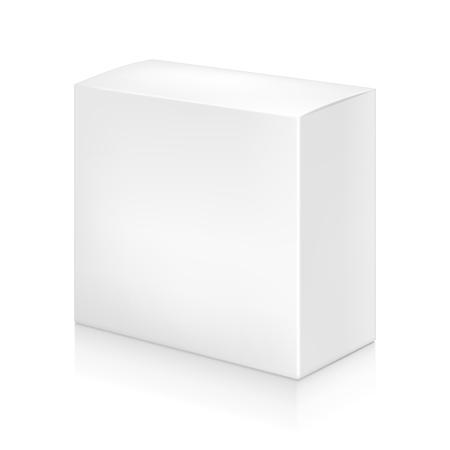Illustration pour Paper white box mock-up template. Good for packaging design. Vector illustration. - image libre de droit