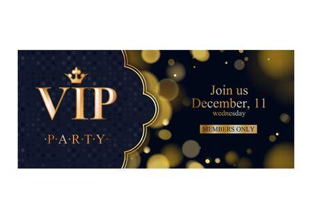 Illustration pour VIP invitation card premium design template. - image libre de droit