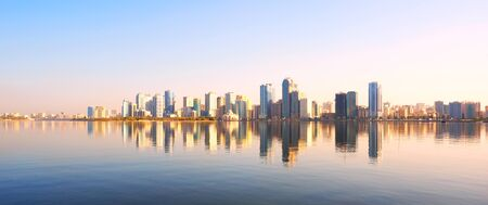 Sharjah embankment. United Arab Emirates