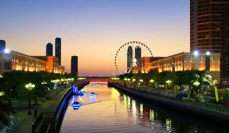 United Arab Emirates. Sharjah, night