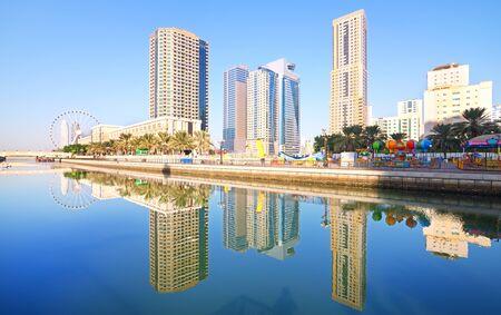 United Arab Emirates. Sharjah. Reflection