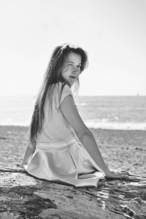 Photo for portrait of cute teenage girl in summer time - Royalty Free Image