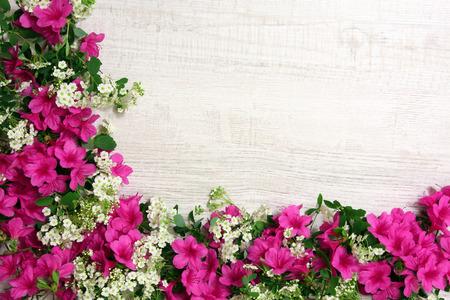 Decoration with azaleas
