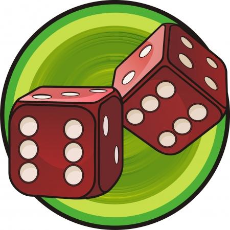 Illustration pour dice - image libre de droit