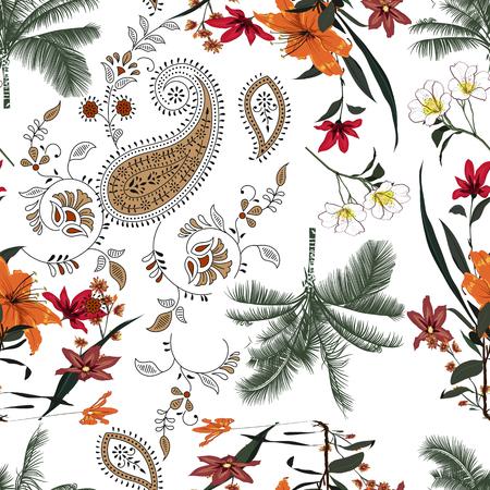 Photo pour pattern with palm tree - image libre de droit