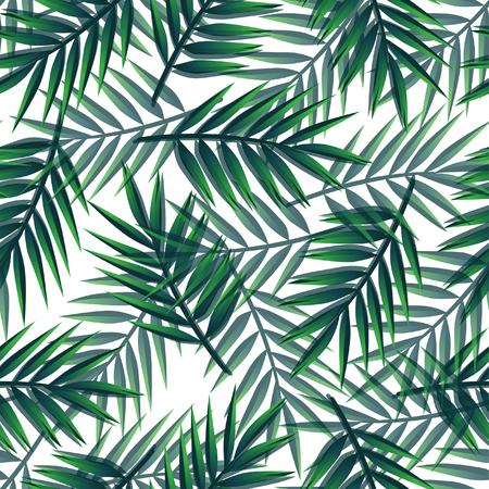 Illustration pour Seamless palm leaves pattern - image libre de droit