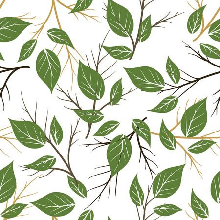 Illustration for Seamless palm leaves pattern - Royalty Free Image