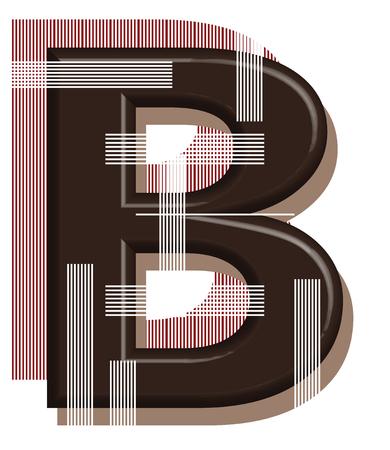 Foto de Letter B from blank 3D design - Imagen libre de derechos