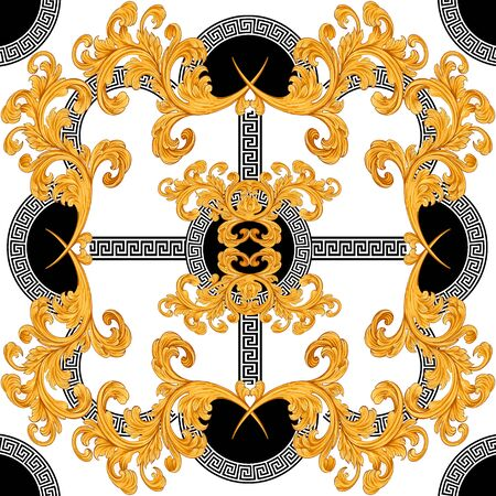 Photo pour baroque with greek design - image libre de droit