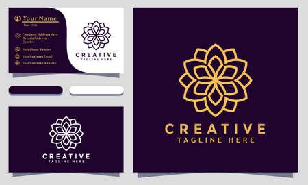 Illustration for Modern creative Mandala Logo Design and template. Ornamen Logos icon minimalist elegant vector - Royalty Free Image