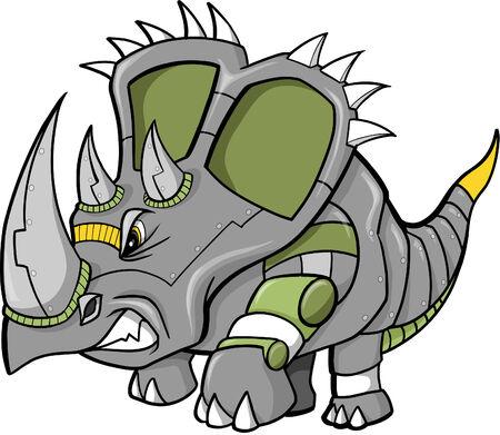 Robot Dinosaur Vector Illustration