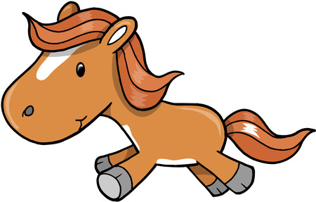 Horse Pony Vector Illustration