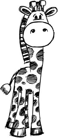 Doodle Sketchy giraffe