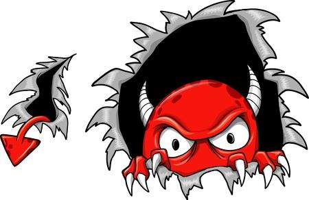 Illustration pour Evil Demon Devil Monster Vector Illustration  - image libre de droit