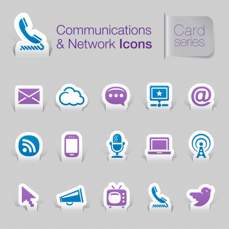 Communications   networks related icons