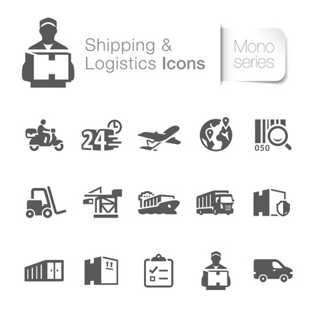 Shipping   logistics related icons