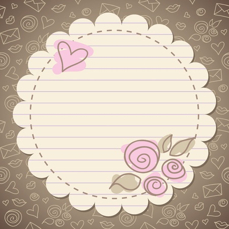 Foto de cute vintage romantic frame with old paper - Imagen libre de derechos
