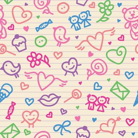 Ilustración de valentine's day symbols pattern 2(0).jpg - Imagen libre de derechos