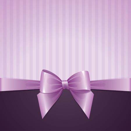 violet background with bow, vintage design