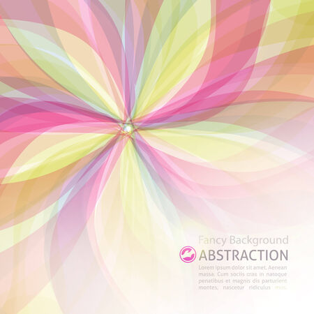vector abstract background with flower and space for text