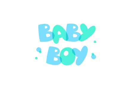 Cute baby boy lettering party design.