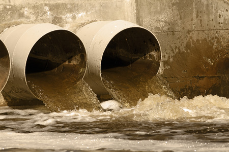 Photo for Toxic water running from sewers to the environment - Royalty Free Image