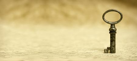 Photo pour Key - Success solution concept and website banner - image libre de droit