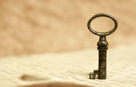 Photo pour Solution key, life coaching, mentor concept, background with copy space - image libre de droit