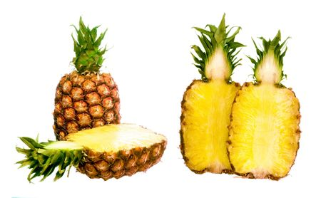 Pineapple isolated on white background.