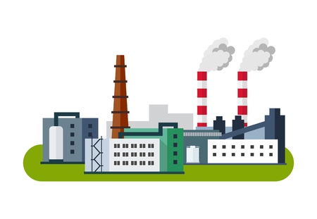 Illustration pour Industrial Factory Icon, Vector illustration in flat style. - image libre de droit