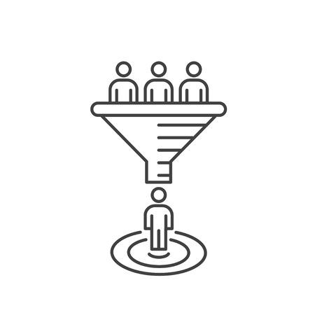 Illustration pour Internet marketing conversion concept. Vector sales funnel. - image libre de droit